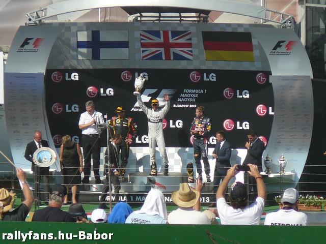 Formula-1 Magyar Nagydíj 2013 dobogó