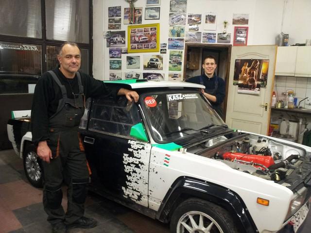 Kasza Zoltán és Papp Arnold valamint a Lada VFTS