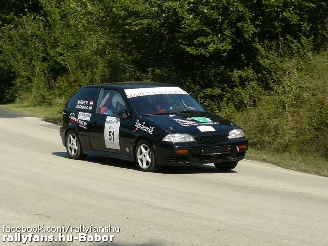 Bognár Gergely-Karizs Péter Oroszlány Rallye 2015
