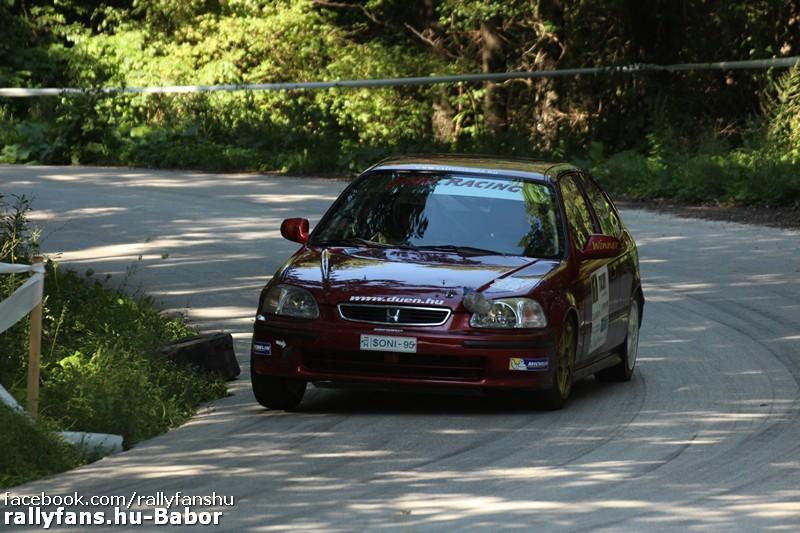 Bányásznapi Oroszlány Rallye 2016 ifj. Géringer Zoltán-Somodi Attila (Honda Civic))