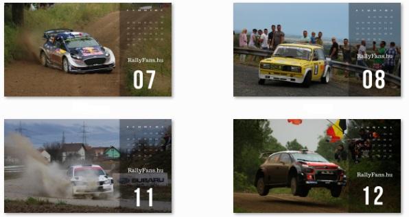 RallyFans.hu 2018-as falinaptár júliustól decemberig