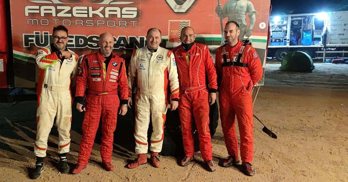 Bunkoczi László, Fazekas Károly, Szalay Balázs, Horn Albert és Csákány Péter Dakar Rally 2021