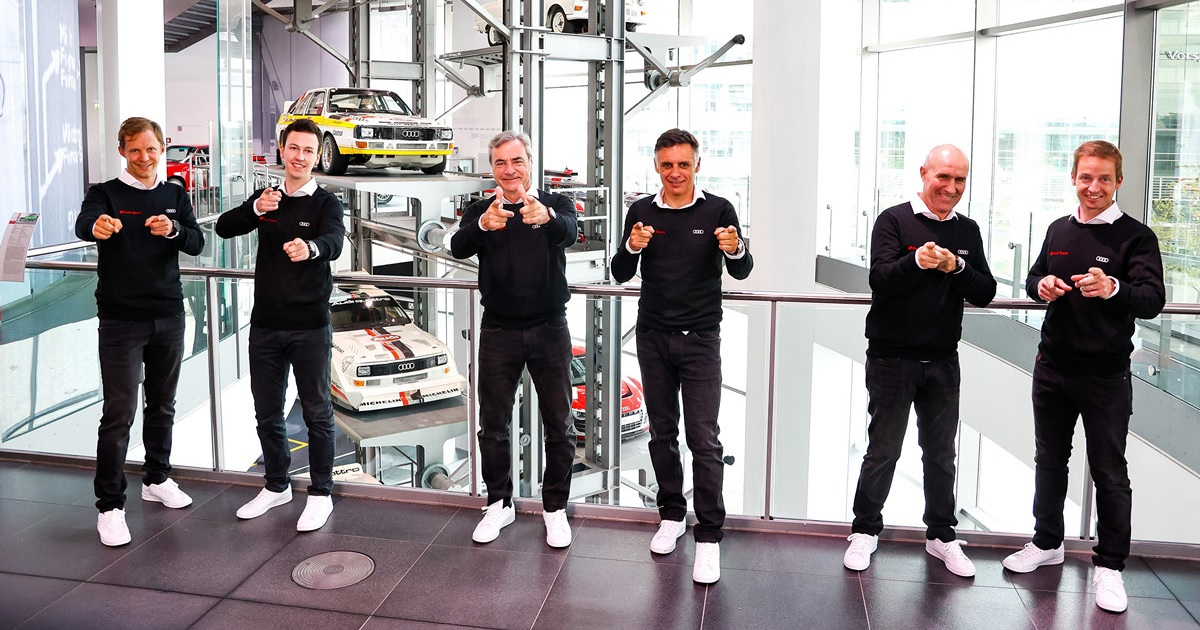 Ekström, Sainz, Peterhansel Audi Dakar 2022