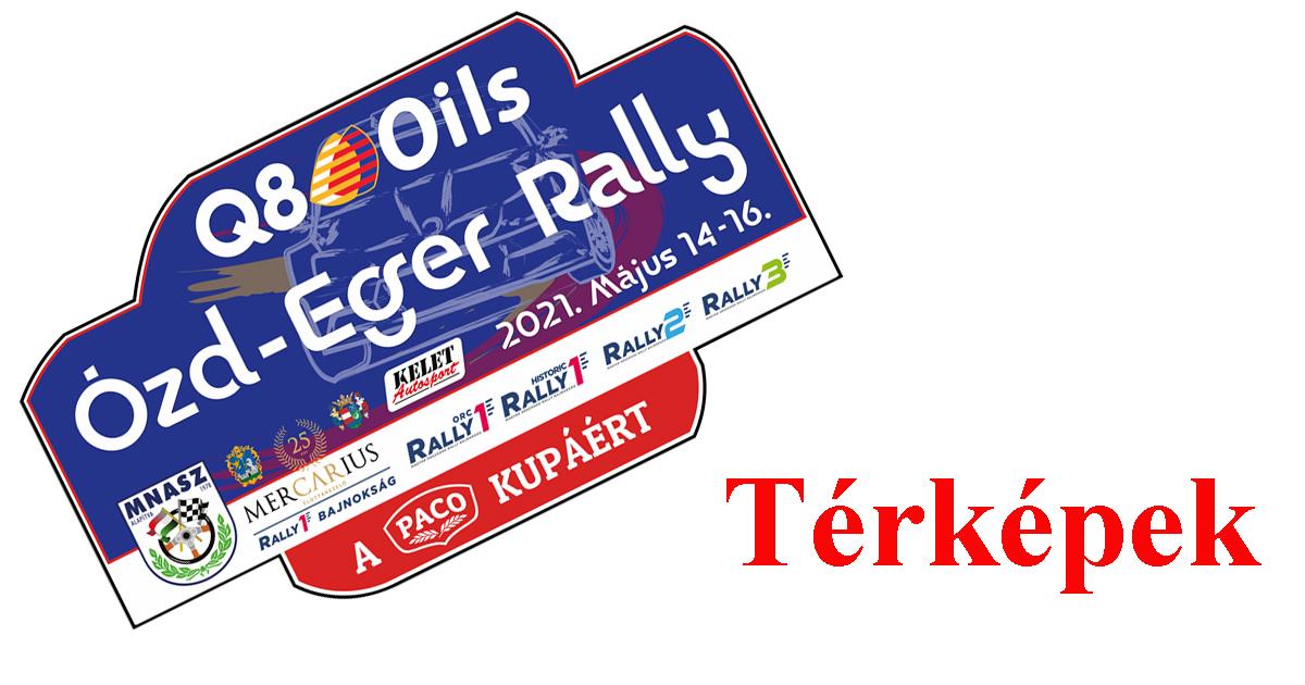 Q8 Oils Eger-Ózd Rally 2021 térképek