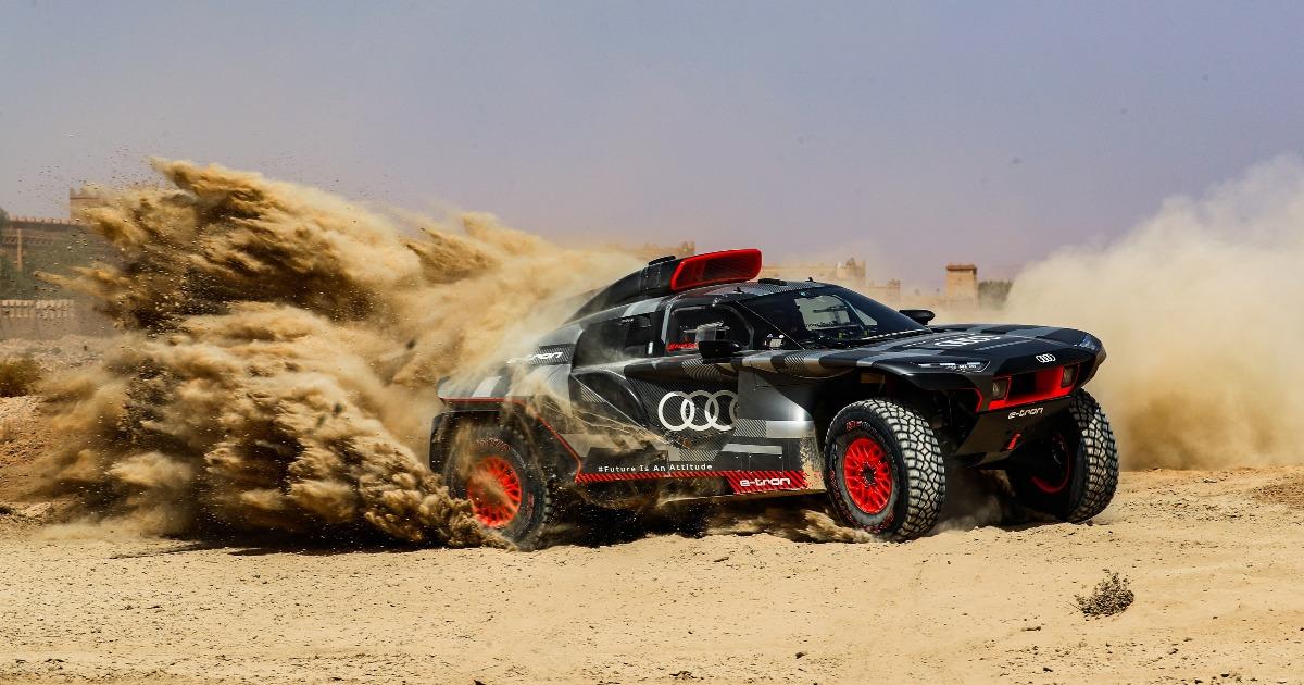 Audi RS Q e-tron Marokkó teszt